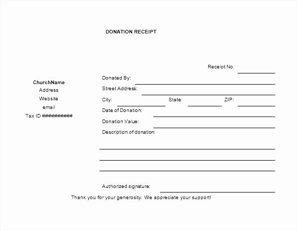 Donation form Template Word Inspirational In Kind Donation Receipt form Template Church Word Free