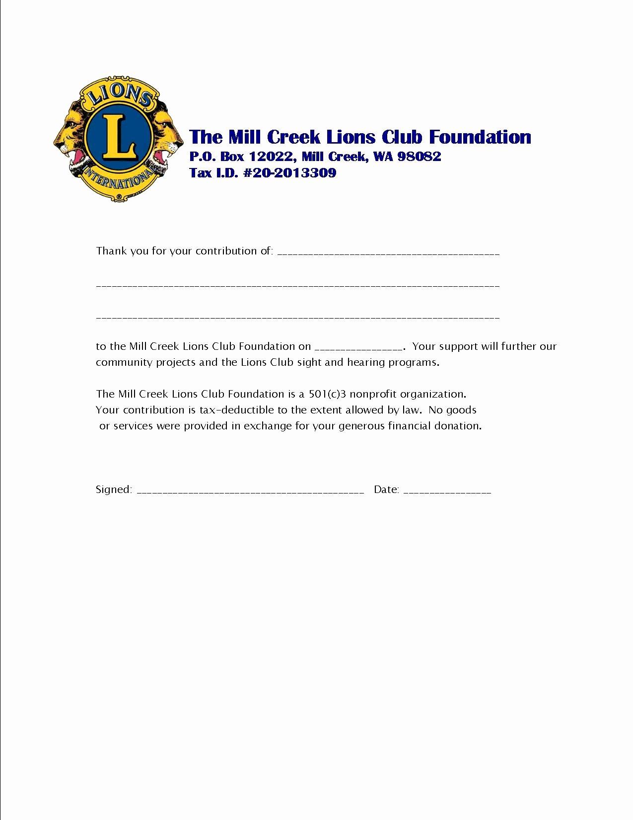 Donation Receipt Letter Template Lovely 9 Best Of Church Donation Receipt Template Sample