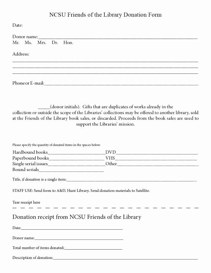 Donation Receipt Letter Template Unique In Kind Donation Receipt form Template Church Word Free