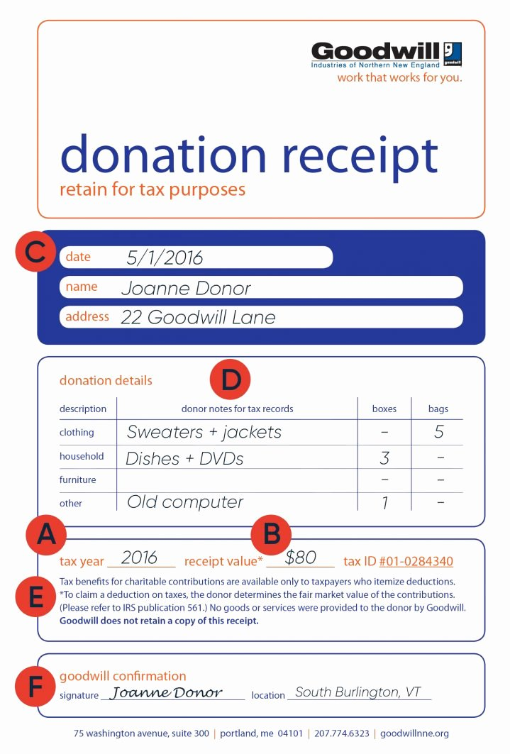 Donation Tax Receipt Template Beautiful How to Fill Out A Goodwill Donation Tax Receipt