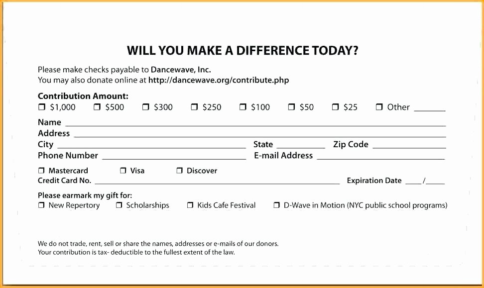 Donor Pledge Card Template Awesome Template Pledge Card Template tobacco Free Templates Best
