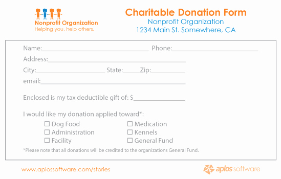 Donor Pledge Card Template Fresh 36 Free Donation form Templates In Word Excel Pdf