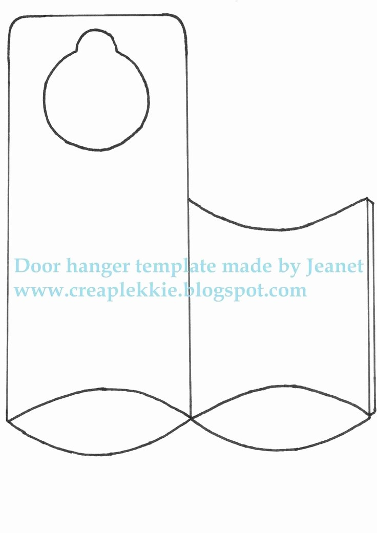 Door Hanger Template Free Beautiful 25 Best Ideas About Door Hanger Template On Pinterest