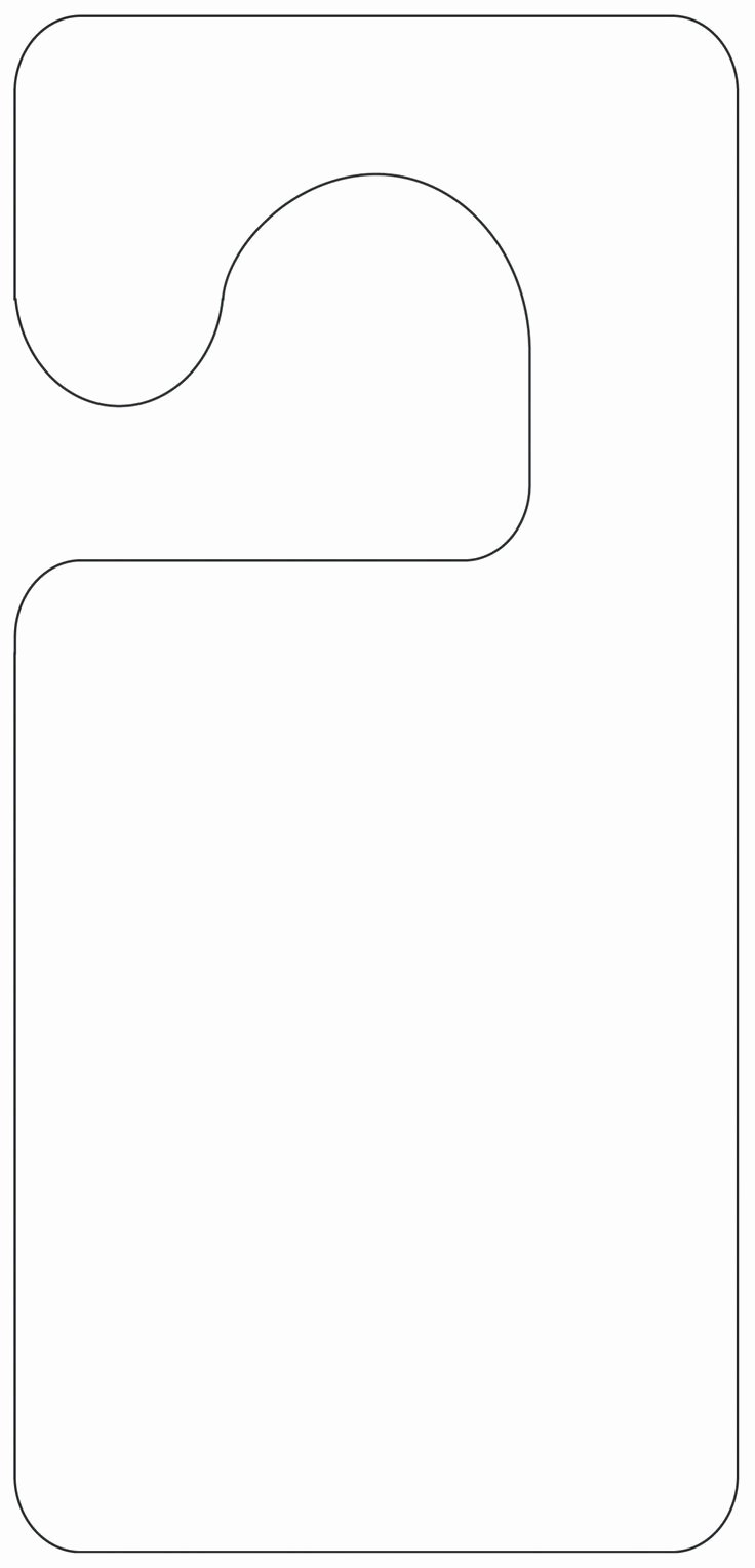 Door Hanger Template Free Beautiful Door Hanger Template