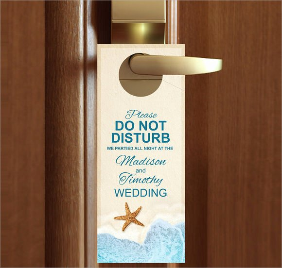 Door Hanger Template Free Best Of 9 Wedding Door Hanger Templates for Free Download