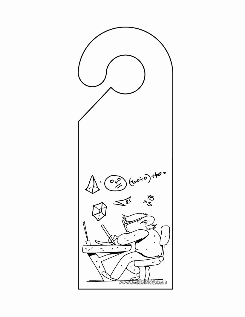 Door Hanger Template Free Best Of Do Not Disturb Door Hanger Coloring Pages Hellokids