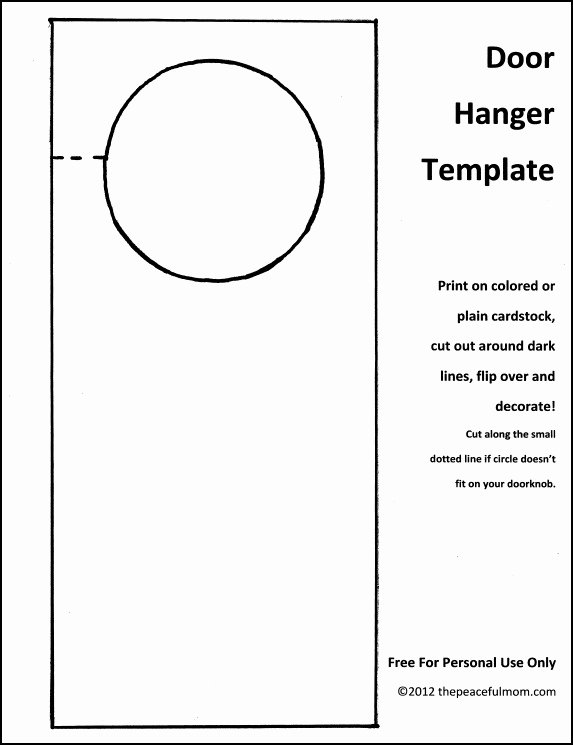 Door Hanger Template Free Fresh Diy Holiday Door Hanger with Free Template the Peaceful Mom