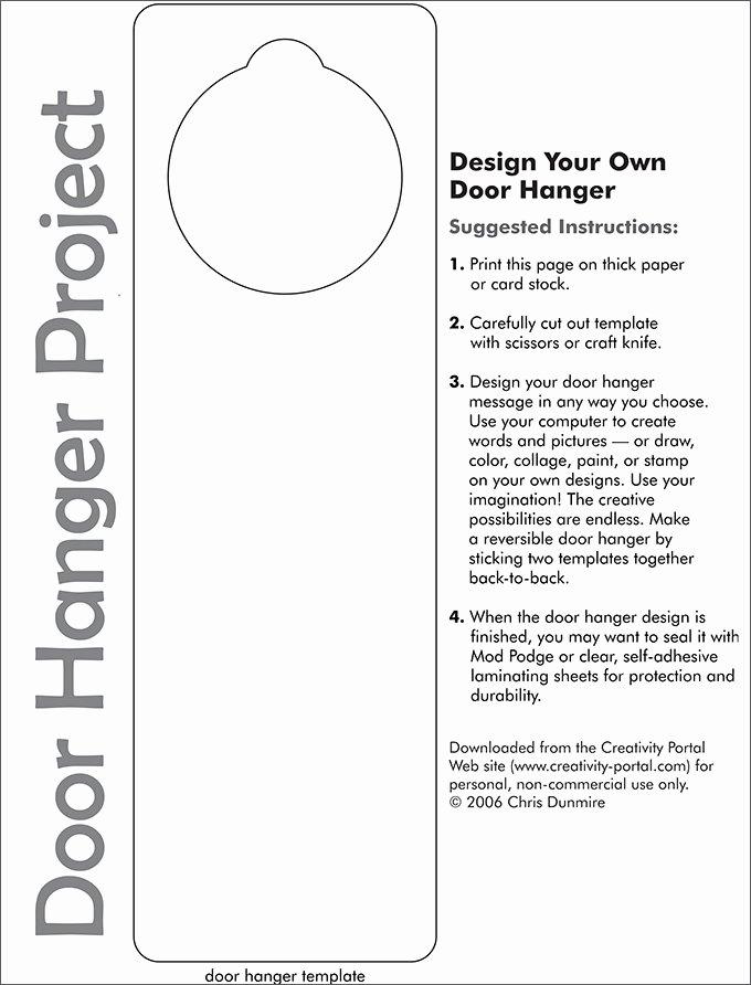 Door Hanger Template Free Luxury Door Hanger Template
