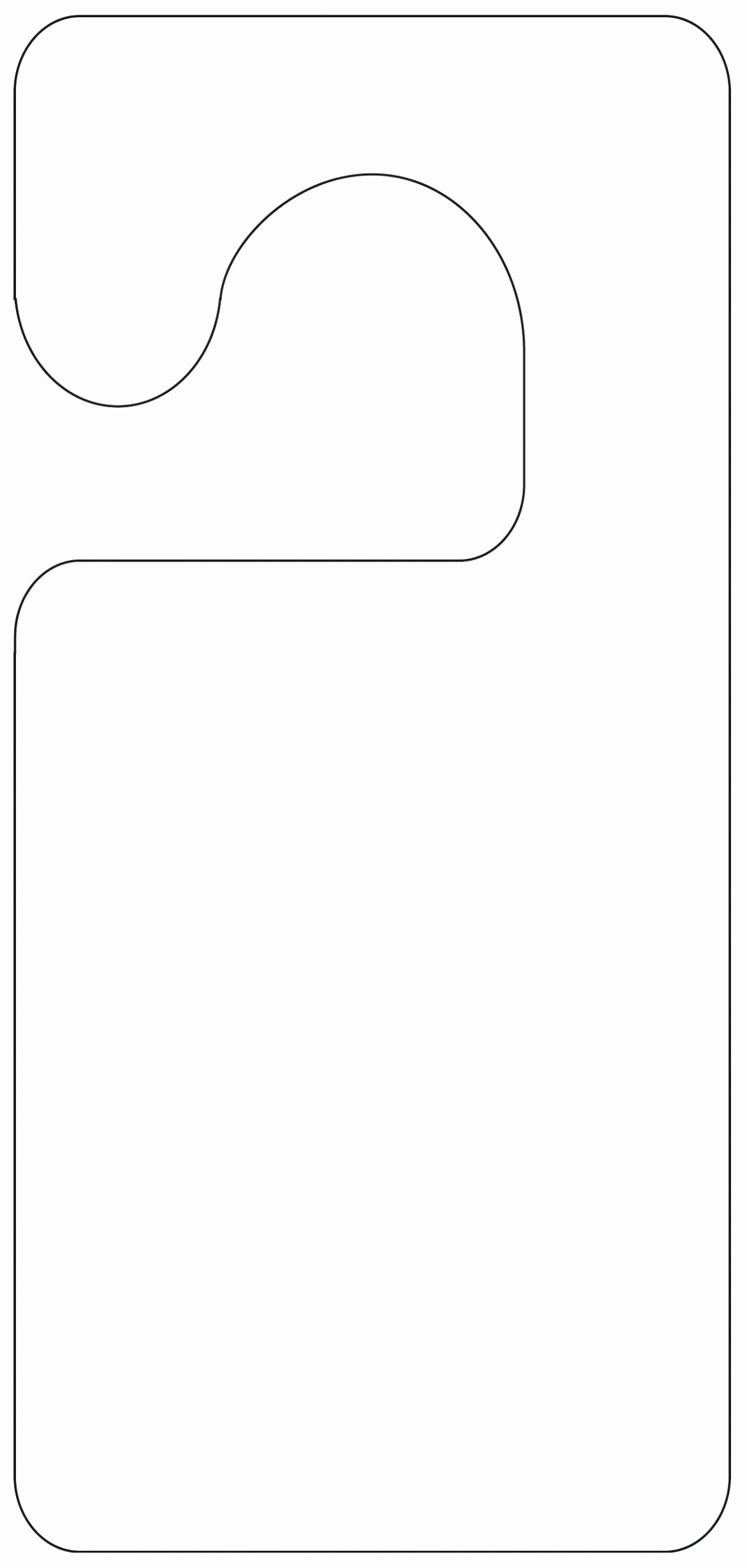 Door Hanger Template Free Unique 5 Blank Door Hanger Template for Word Uawrc