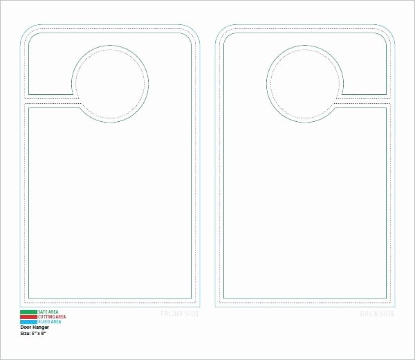 Door Hanger Template Illustrator Luxury Door Hanger Template Illustrator