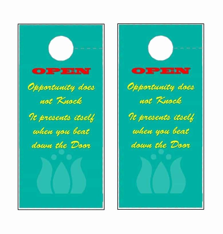 Door Hanger Template Pdf Luxury 43 Free Door Hanger Templates Word Pdf Template Lab