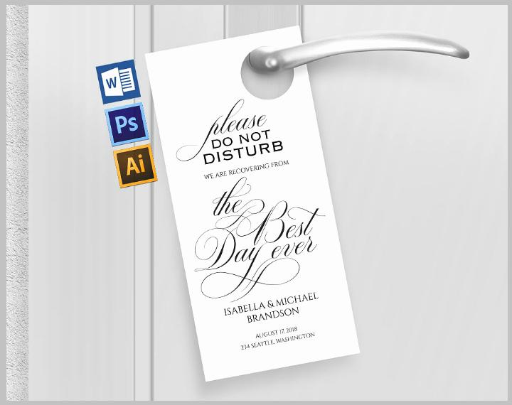 Door Hanger Template Psd Best Of 14 Memorable Wedding Door Hanger Templates Psd Vector