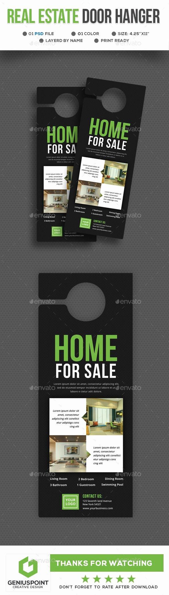 Door Hanger Template Psd Best Of Best 25 Door Hanger Template Ideas On Pinterest