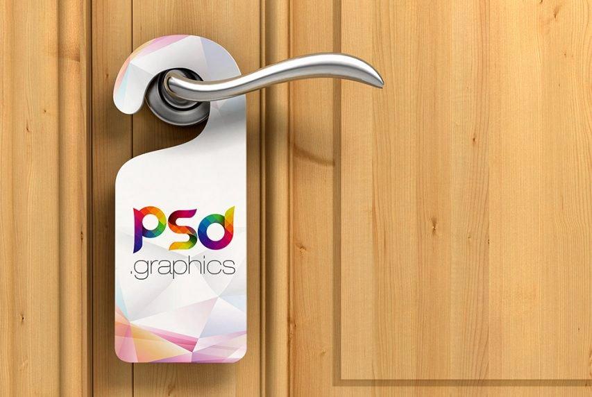 Door Hanger Template Psd Best Of Door Hanger Mockup Free Psd
