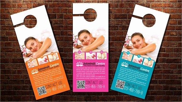 Door Hanger Template Psd Luxury 7 Sample Healthcare Door Hangers