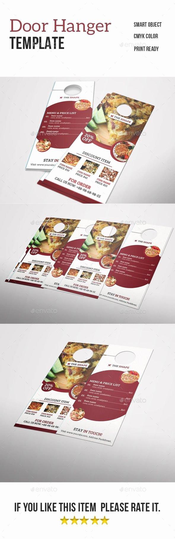 Door Hanger Template Psd New Best 25 Door Hanger Template Ideas On Pinterest