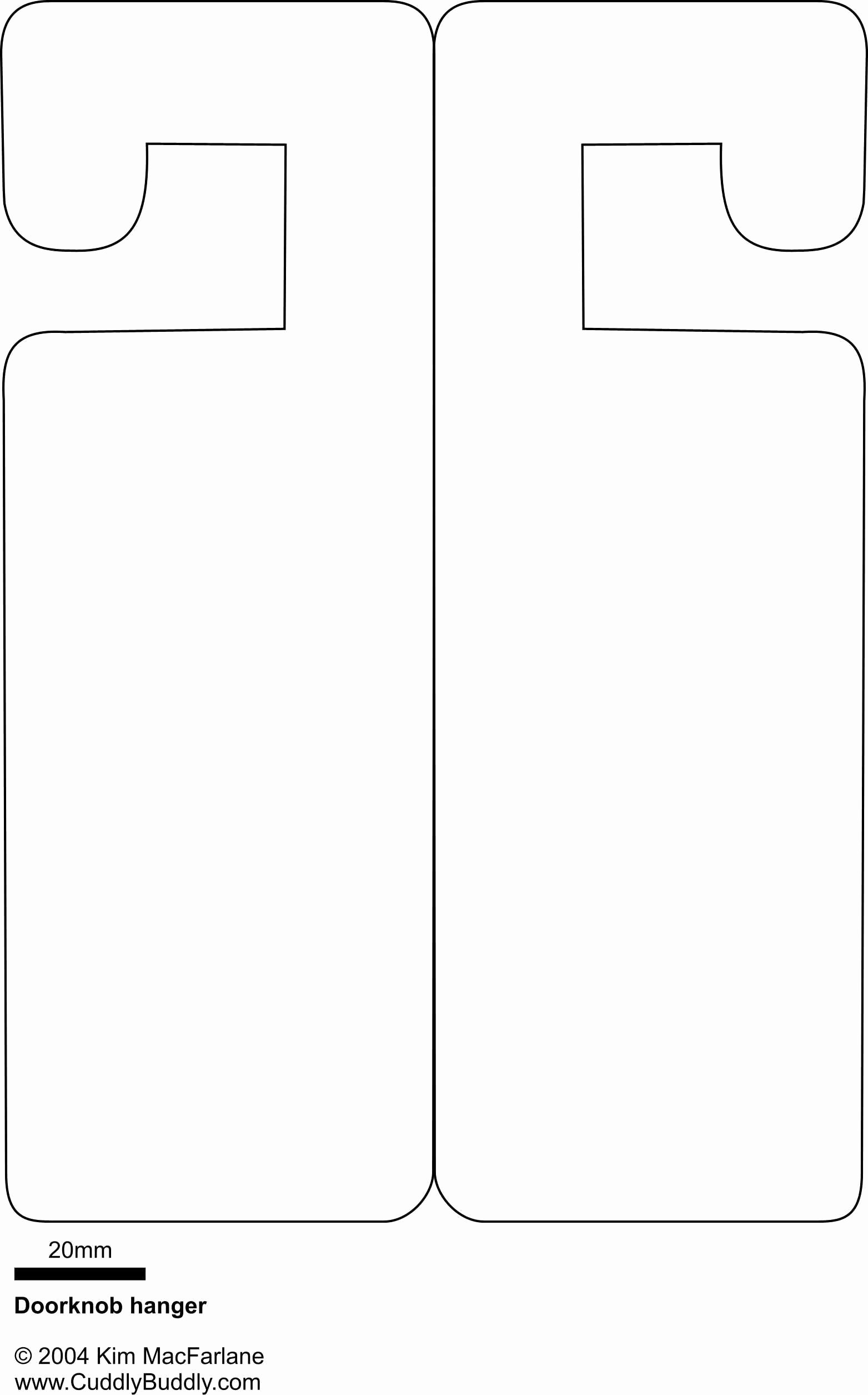 Door Hanger Template Publisher Beautiful Doorknob Hanger Template something to Occupy the Kids On
