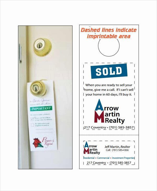 Door Hanger Template Publisher Elegant 7 Promotional Door Hanger Templates