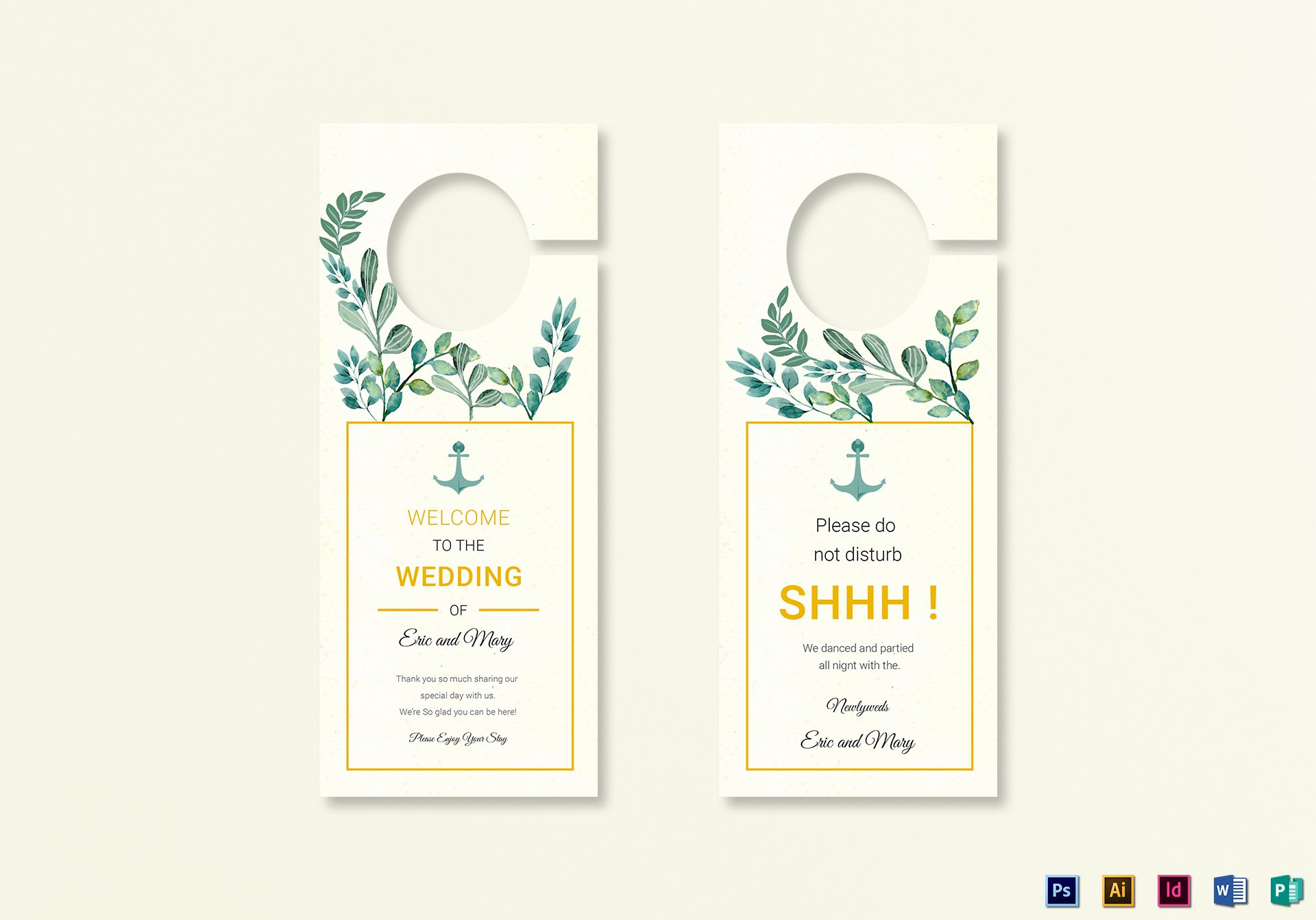 nautical wedding door hanger aff=