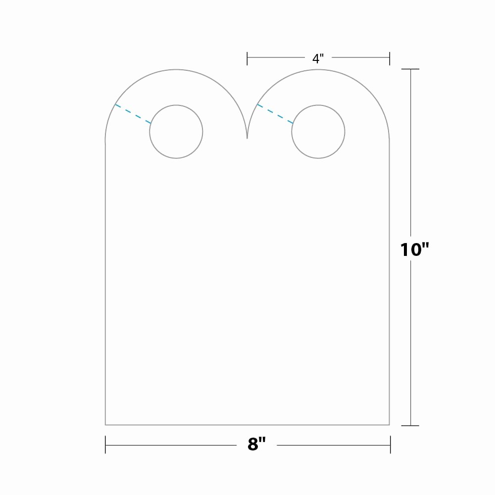 Door Hanger Template Publisher New Arched Door Hanger Dhar5b6 Blanks Usa