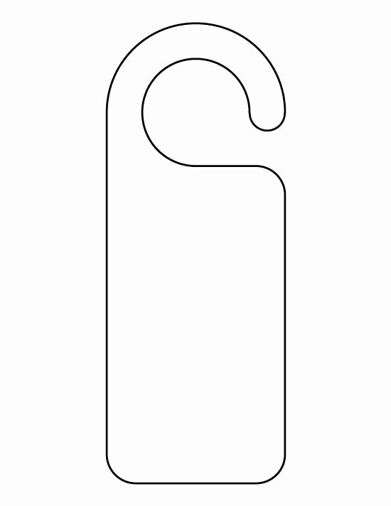 Door Hangers Template Free Awesome Pin by Muse Printables On Printable Patterns at