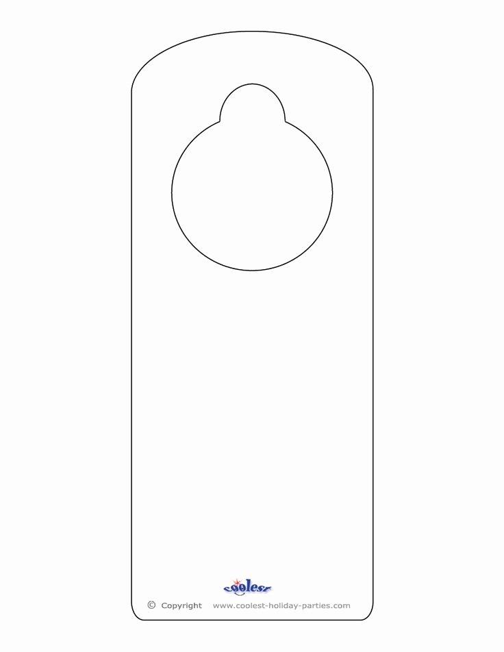 Door Hangers Template Free Luxury Blank Printable Doorknob Hanger Template