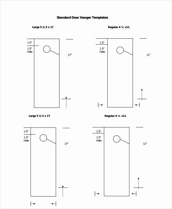 Door Knob Hanger Template Best Of 7 Promotional Door Hanger Templates