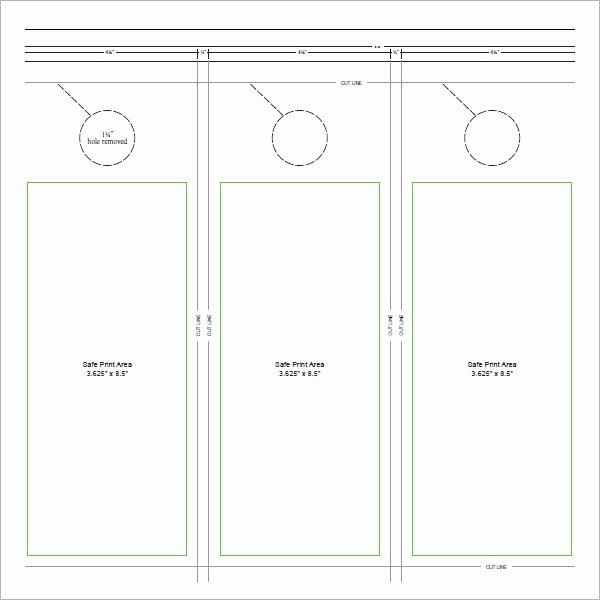 Door Knob Hanger Template Elegant 15 Door Hangers