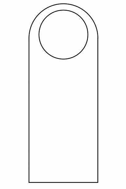 Door Knob Hanger Template Inspirational Free Printable Door Hanger Template – Enjoyathome
