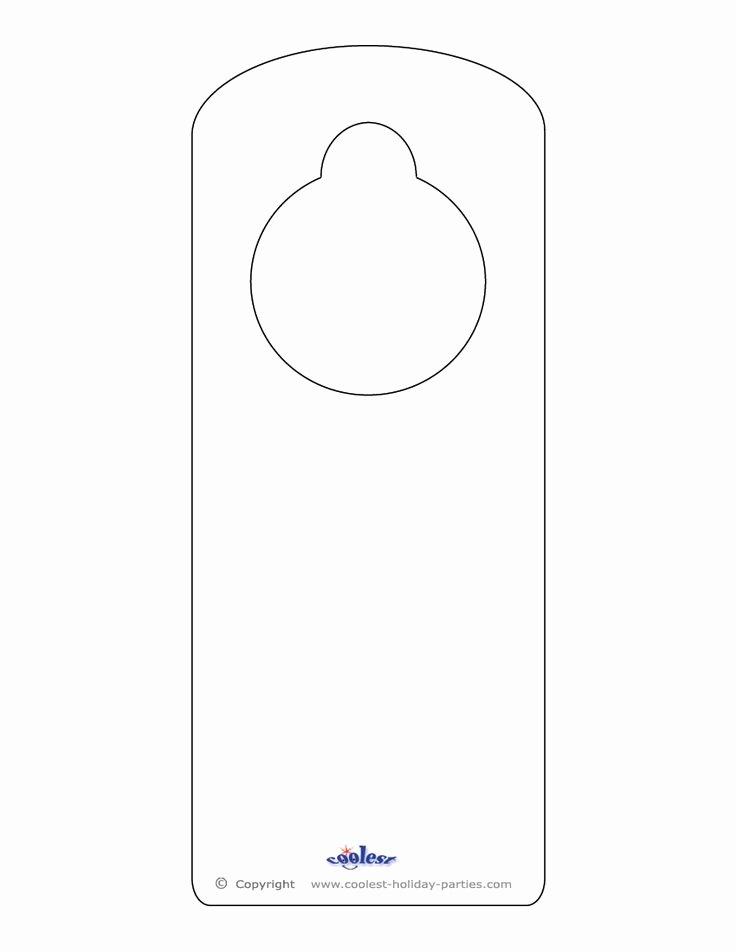 Door Knob Hanger Template Lovely 25 Best Ideas About Door Hanger Template On Pinterest