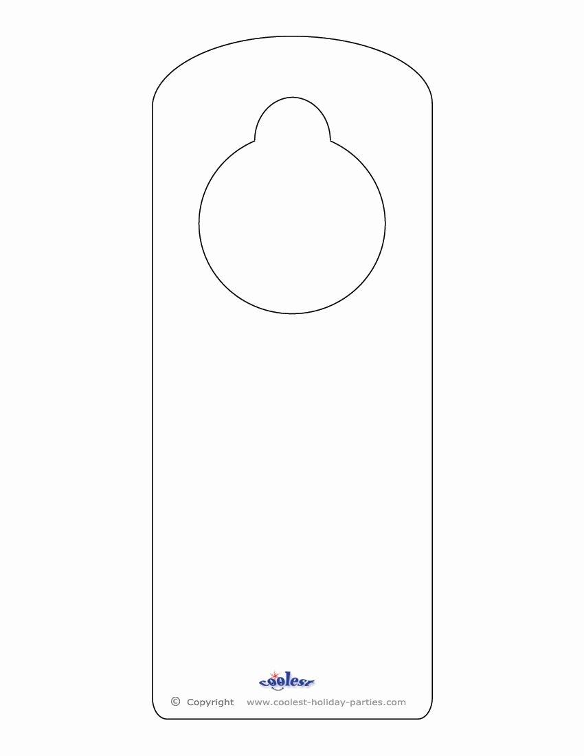 Door Knob Hanger Template Luxury Blank Printable Doorknob Hanger Template