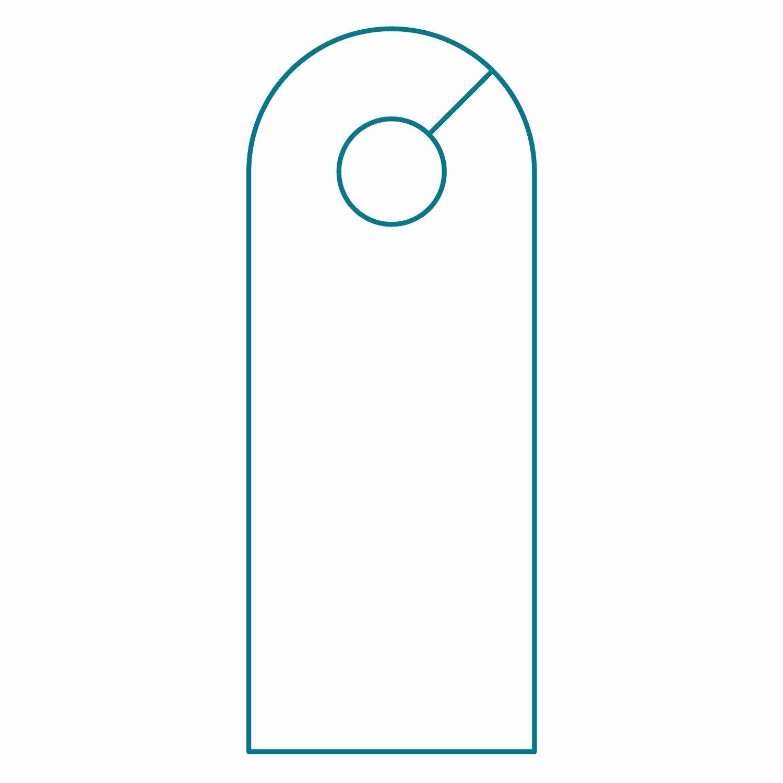 door knob hanger template illustrator