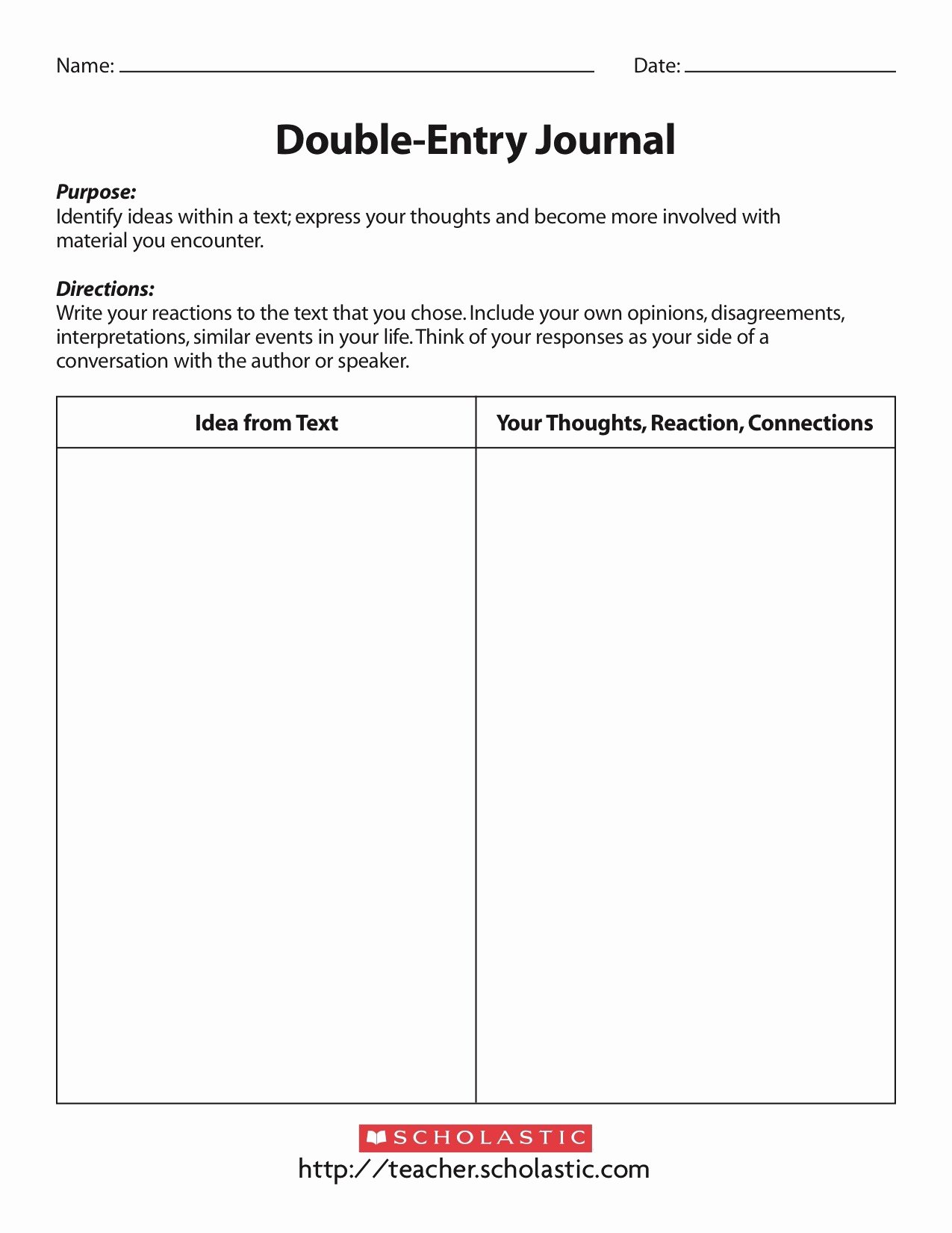 Double Entry Journal Template Beautiful Content Specific Literacy Focusing On Prehension