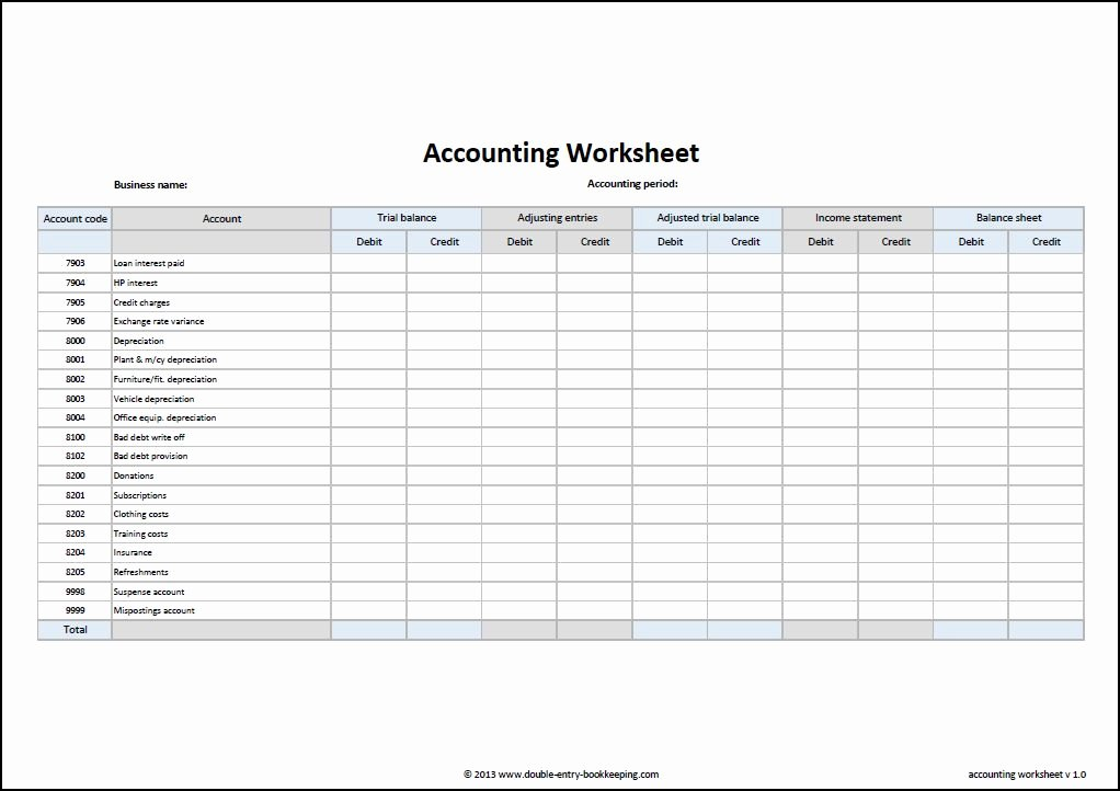 Double Entry Journal Template Best Of Accounting Worksheet Template