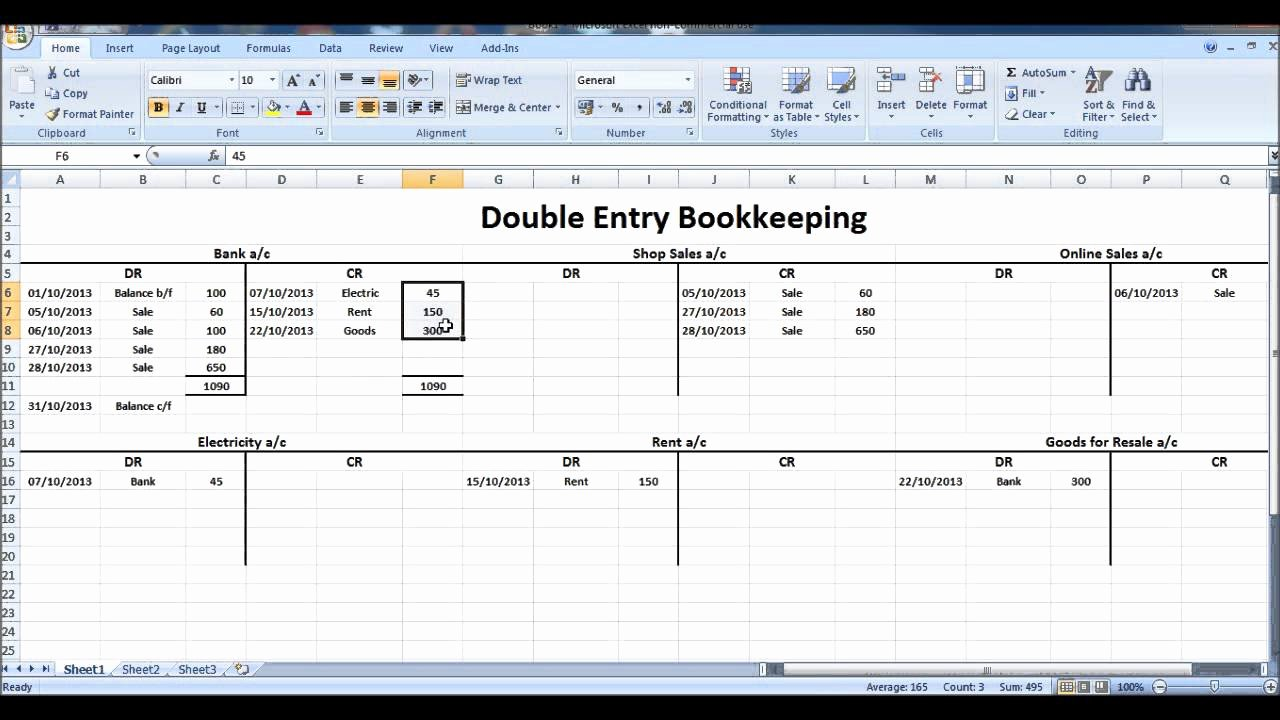 Double Entry Journal Template Best Of Free Line Bookkeeping Course 9 Closing T Accounts