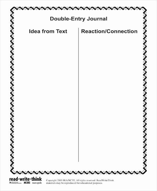 Double Entry Journal Template Inspirational 10 Double Entry Journal Templates Pdf Doc