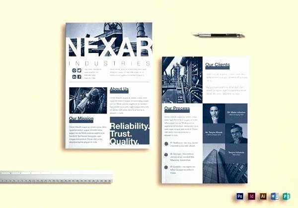 Double Sided Flyer Template Awesome Double Sided Brochure Template Publisher
