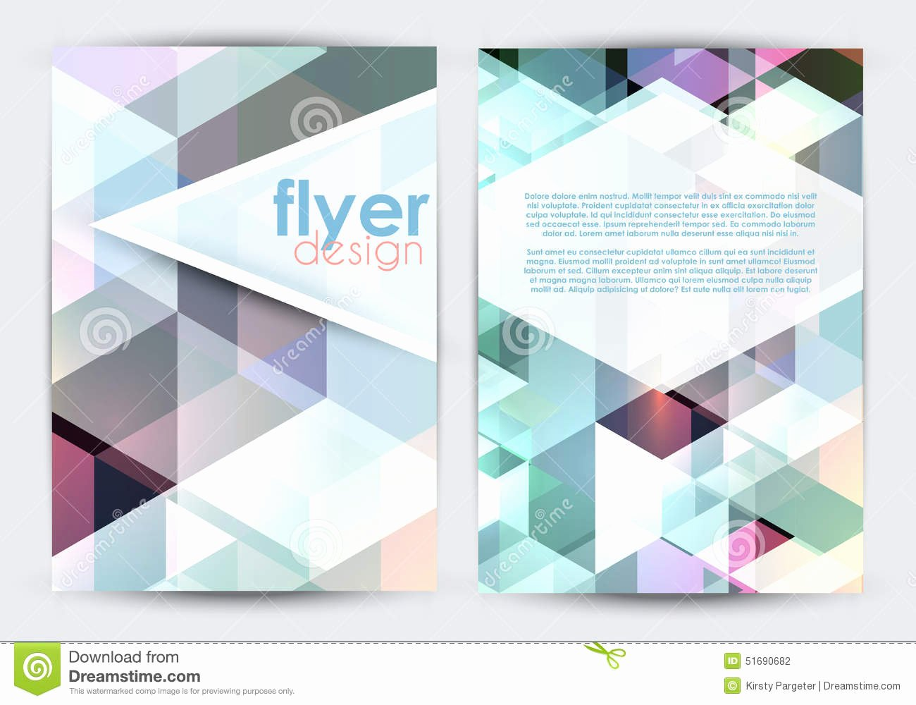 Double Sided Flyer Template Best Of Double Sided Flyer Design Stock Vector Image Of ornament