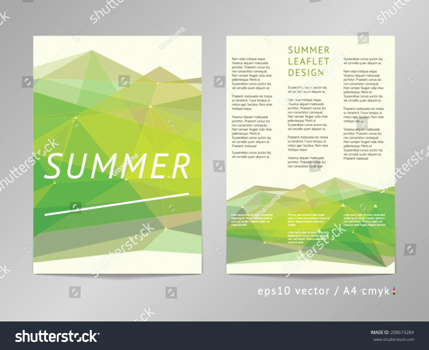 Double Sided Flyer Template Best Of Three Column Double Sided Vector Leaflet Brochure