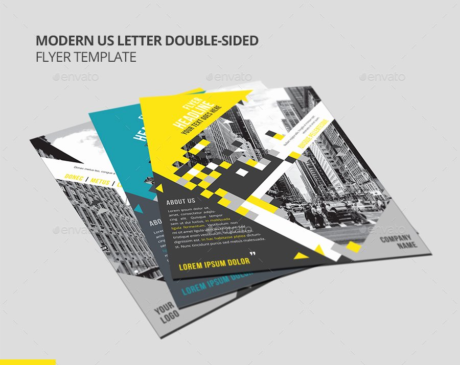 Double Sided Flyer Template Elegant Modern Us Letter Double Sided Flyer Template by
