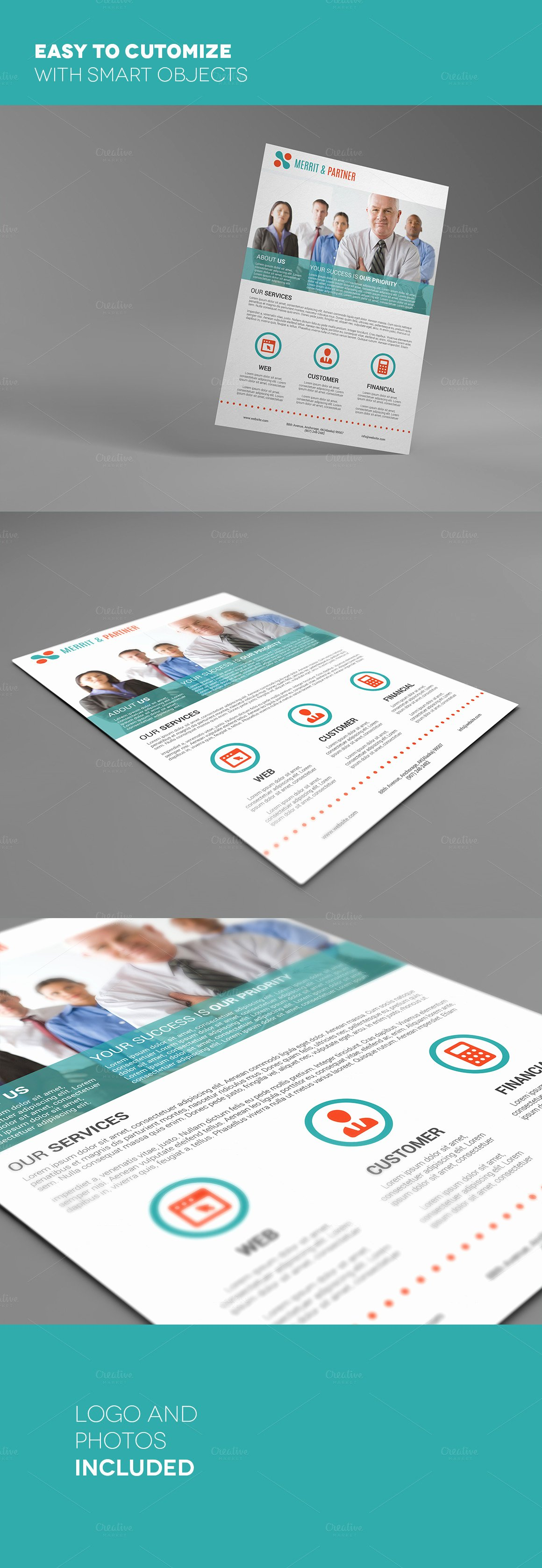 Double Sided Flyer Template Luxury A4 Double Sided Corporate Flyer Flyer Templates On
