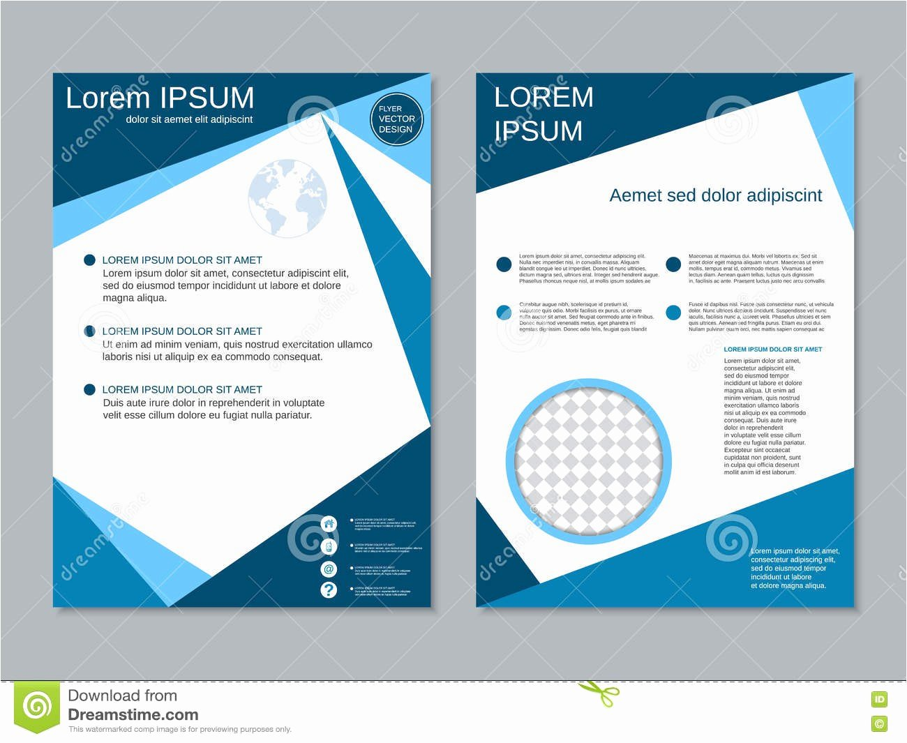 Double Sided Flyer Template New Double Sided Flyer Template Two Sided Bookmark Template