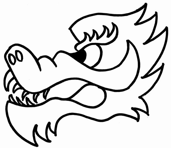 Dragon Cut Out Template Awesome Dragon Head Template