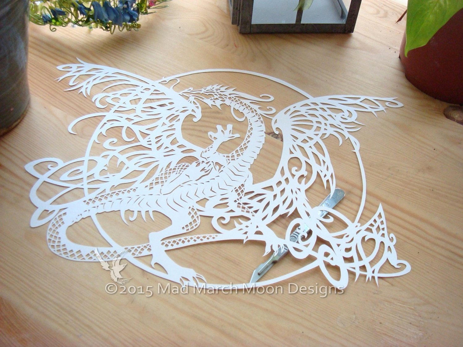 Dragon Cut Out Template Best Of Tangle Dragon Mercial Use Papercut Template Pdf