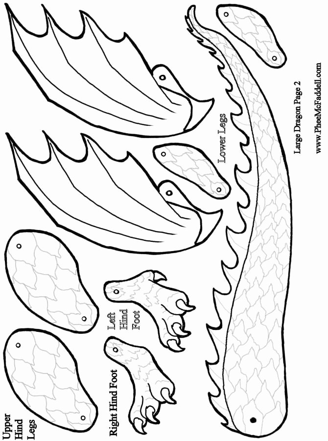Dragon Cut Out Template Fresh Molde Dragón Caballeros Pinterest