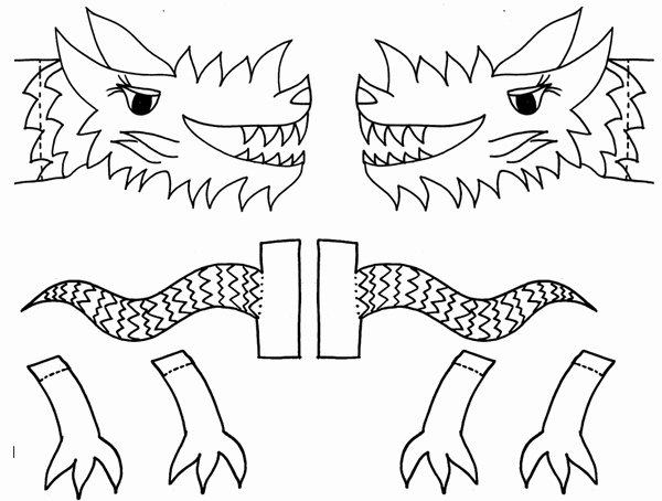Dragon Cut Out Template Inspirational Chinese New Year Crafts – Fun Activities for Kids for A
