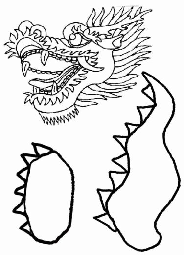 Dragon Cut Out Template New Chinese Dragon Puppet Template