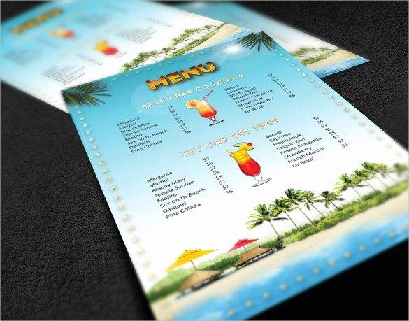 Drink Menu Template Free Fresh Cocktail Menu Templates – 54 Free Psd Eps Documents