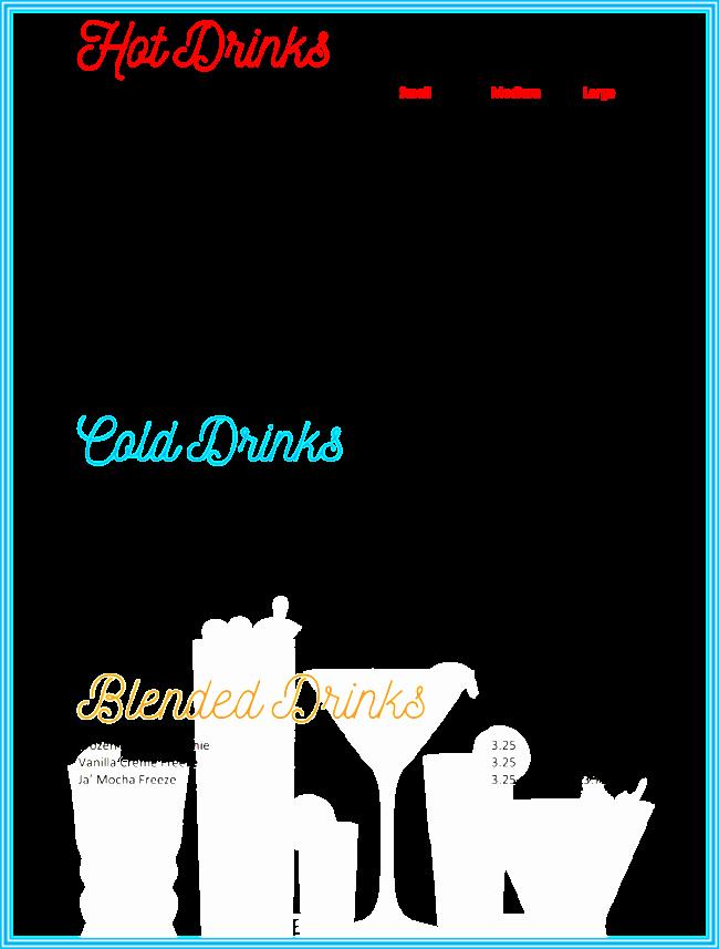 Drink Menu Template Free Inspirational Drink Menu Template 5 Best Drink Menu formats