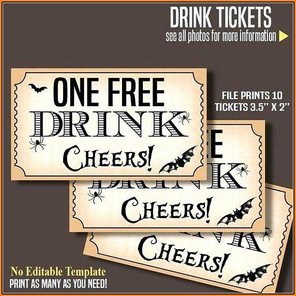 Drink Ticket Template Word Elegant Free Customizable Drink Ticket Template Template 1